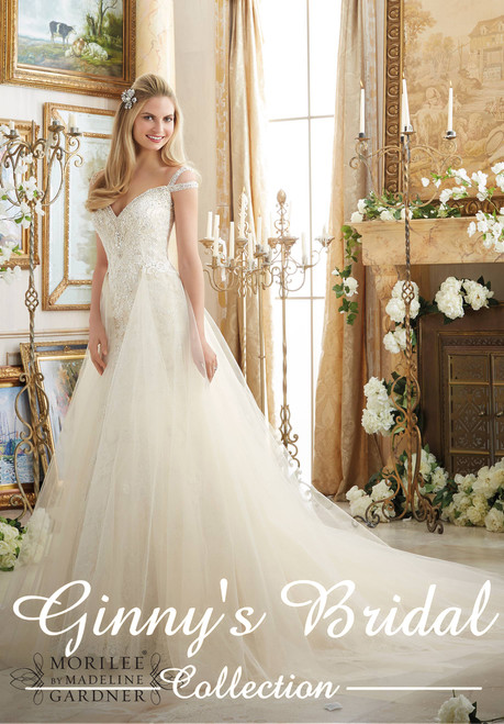 Morilee Bridal Wedding Dress Style 2894 Ivory Size 14 on Sale