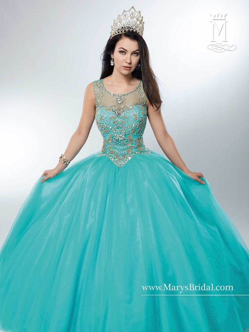 Beloving by Mary's Quinceanera Dress 4741, Aqua, Size 10 on SALE