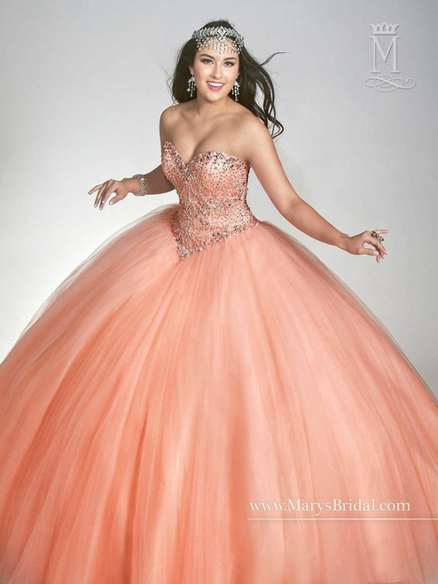Beloving by Mary's Quinceanera Dress 4682, Peach, Size 8 on SALE