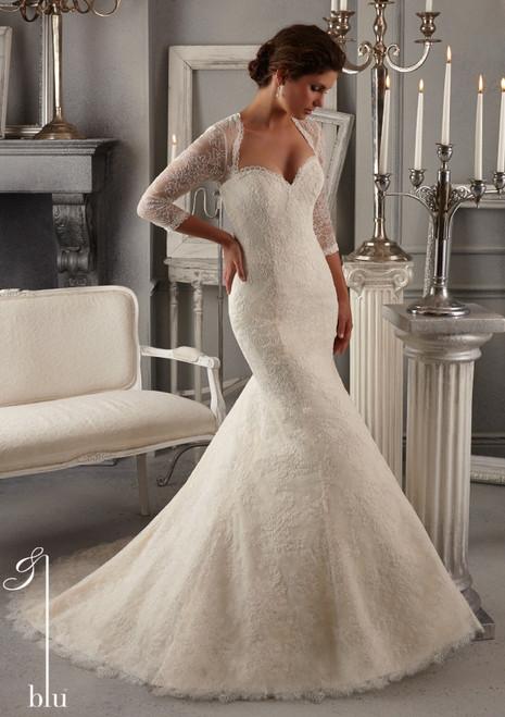 Blu by Mori Lee Bridal Dress 5275 Ivory Size 12 on Sale