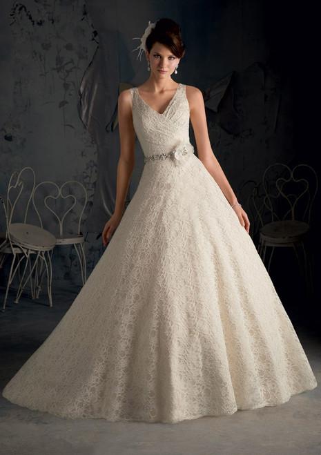 Blu by Morilee Bridal Wedding Dress 5170 White Size 26 on Sale
