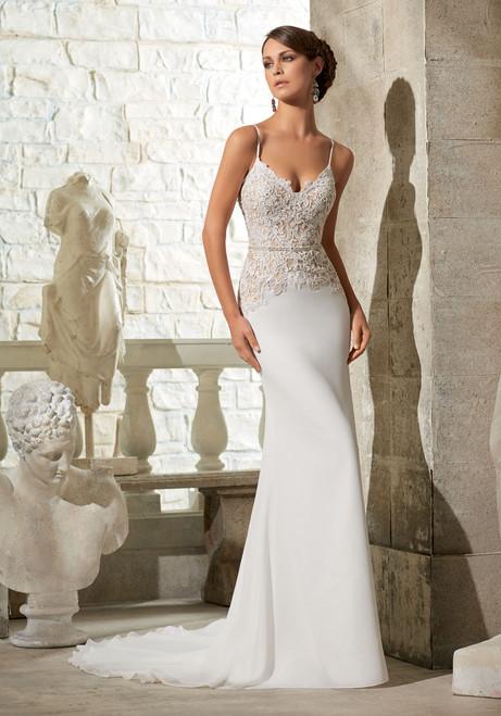 Blu by Morilee Bridal Wedding Dress 5312 Ivory/Nude Size 10 on Sale