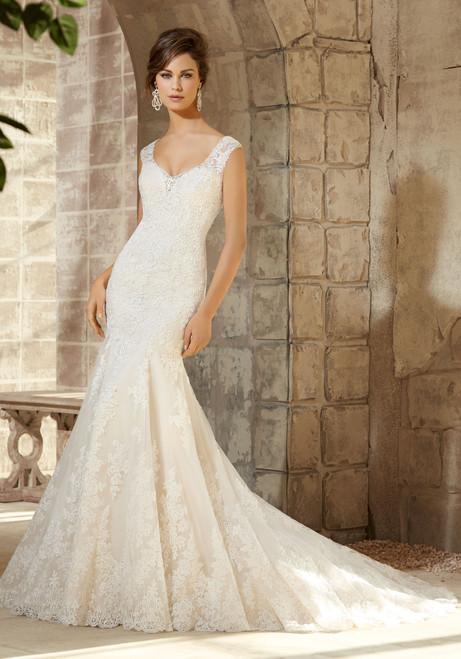 Blu by Morilee Bridal Wedding Dress 5363 Ivory Size 14 on Sale
