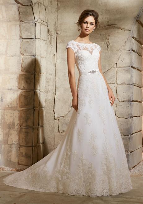 Blu by Morilee Bridal Wedding Dress 5370 Ivory Size 18 on Sale