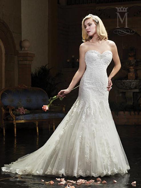 Mary's Bridal Wedding Dress 6395 White Size 18 on Sale