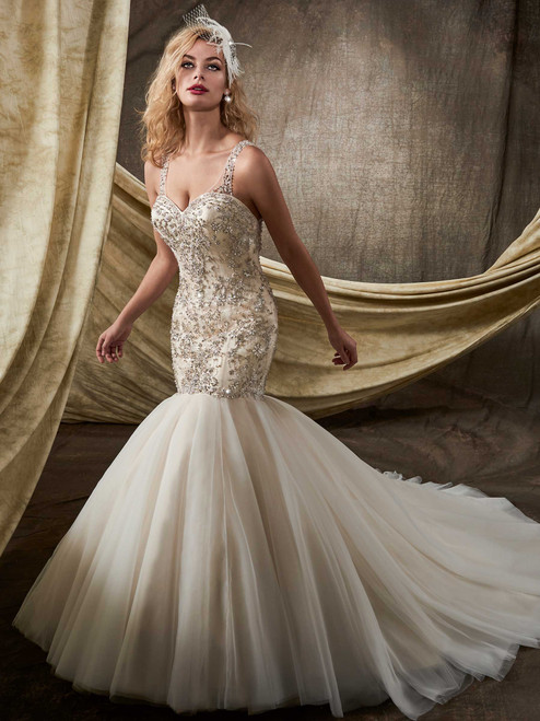 Mary's Bridal Wedding Dress D8101 Ivory Size 14 on Sale