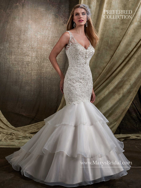 Mary's Bridal Wedding Dress D8114 Ivory Size 12 on Sale