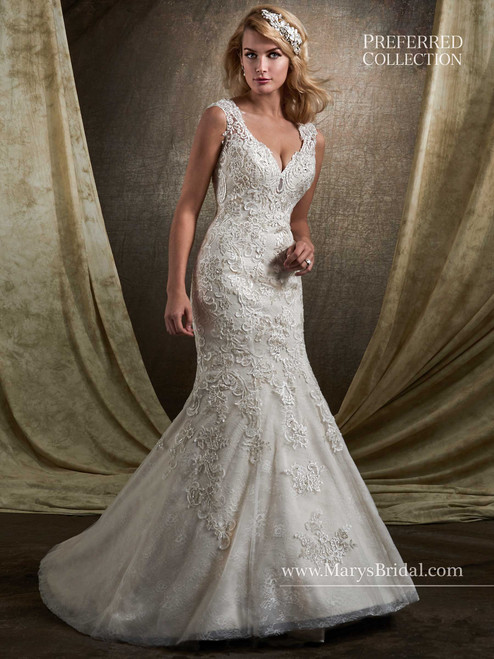 Mary's Bridal Wedding Dress D8128 Shell Size 12 on Sale