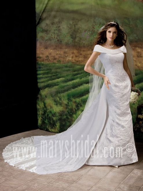 Mary's Bridal Wedding Dress Style 5651 White Size 8 on Sale