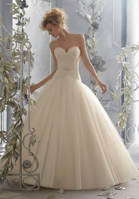 Voyage by Morilee Bridal Wedding Dress Style 6788 Ivory Size 12 on Sale