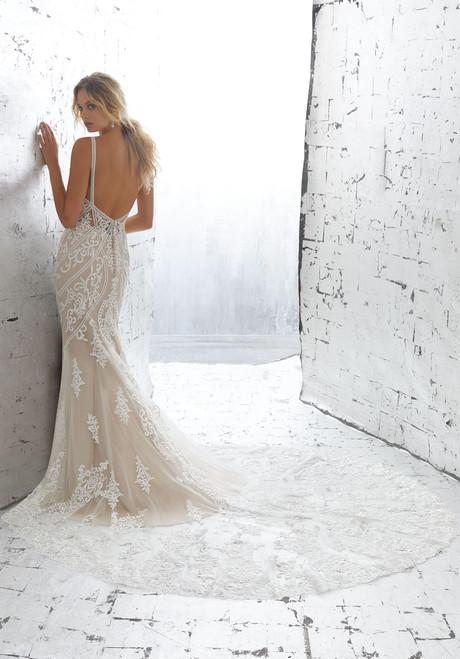 AF Angelina Faccenda Couture by Morilee Bridal Wedding Dress 1703/Kimora Ivory/Nude Size 6 on Sale