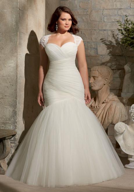 Julietta by Morilee Bridal Wedding Dress Style 3176 Ivory Size 20W Plus Size on Sale