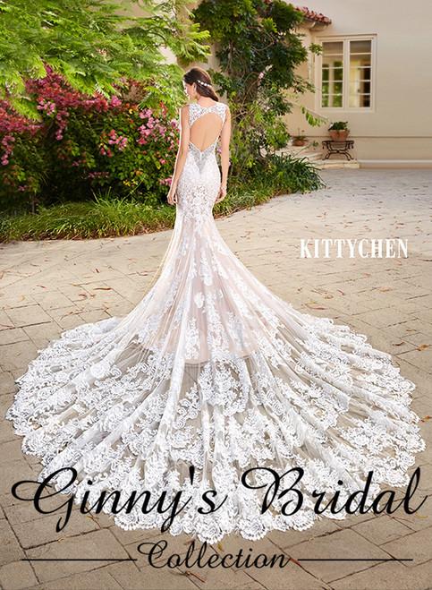 Kitty Chen Candice/K1632 Wedding Dress Ivory/Light Gold Size 14 on Sale