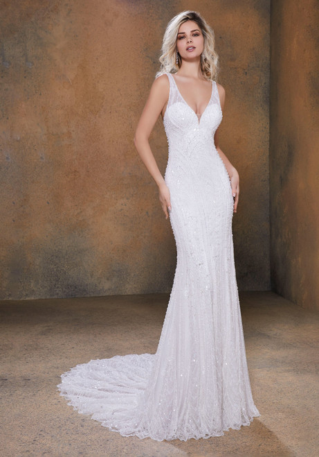 Angelina Faccenda AF Couture by Morilee Wedding Dress Style 1732/RAJA Ivory Size 14 on Sale