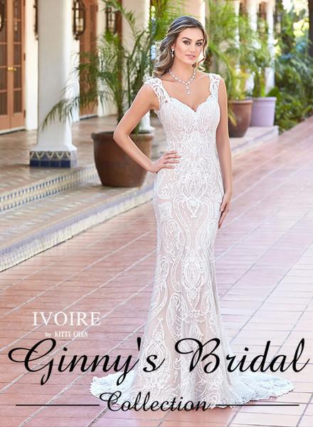 Ivoire by Kitty Chen Bridal Wedding Dress Style Viviana V1715 Ivory Size 16 on Sale
