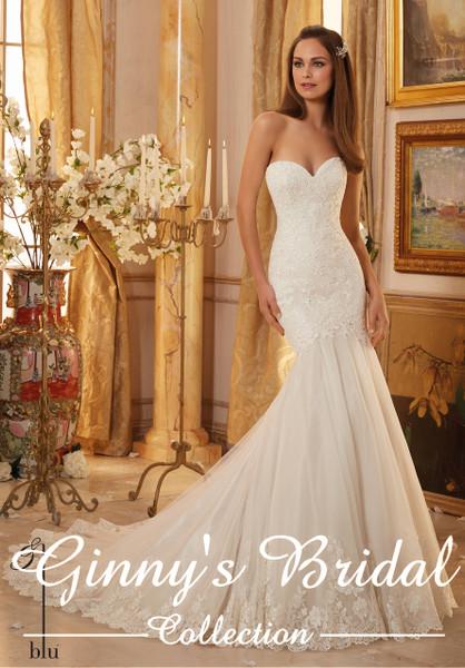 Blu by Mori Lee Wedding Dress 5475