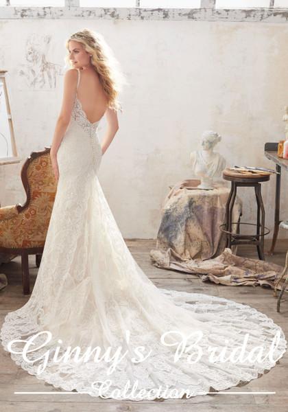 Morilee Bridal Wedding Dress Style Malia/8112 Ivory/Light Gold Size 12 on Sale