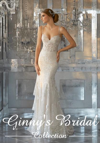 Morilee Bridal Wedding Dress Style 8188/Martella  Ivory/Light Gold Size 10 on Sale