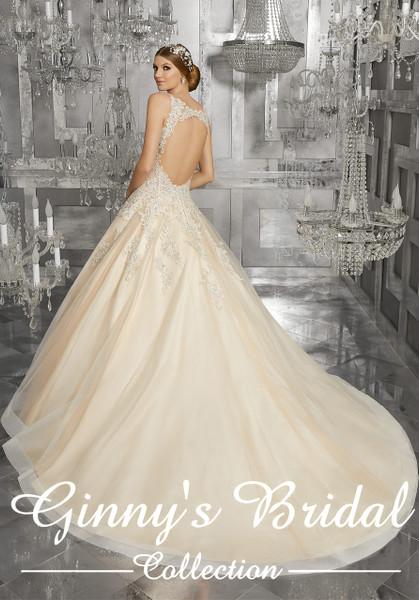 Morilee Bridal Wedding Dress Style 8190/Mahala Ivory/Light Gold Size 10 on Sale