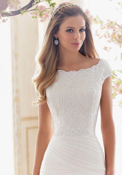 Voyage by Morilee Bridal Wedding Dress Style 6839 Ivory Size 14 on Sale