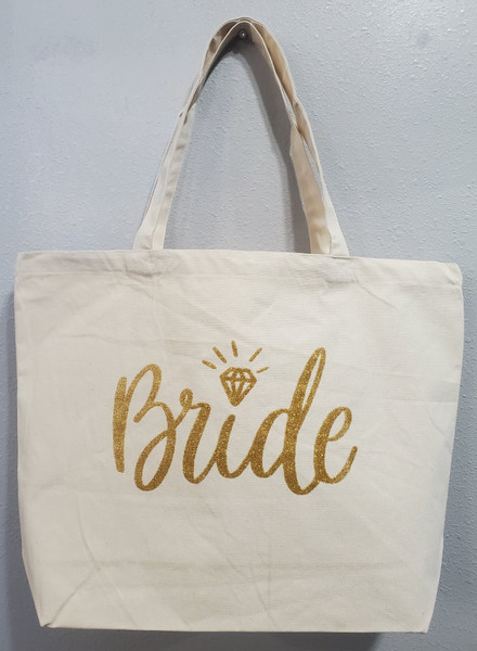 Bride Jumbo Canvas Tote
