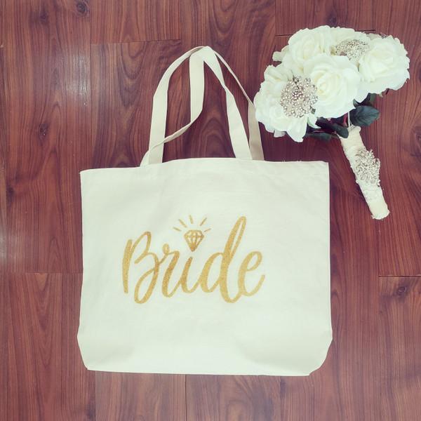 Bride Jumbo Canvas Tote