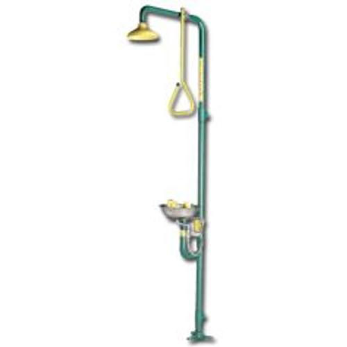safety zone eye wash shower combination