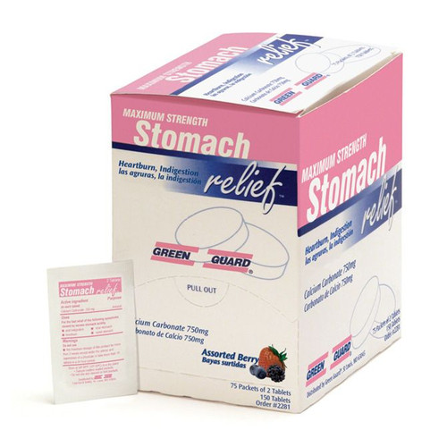Max Strength Stomach Relief Tablets - Compare to Tums