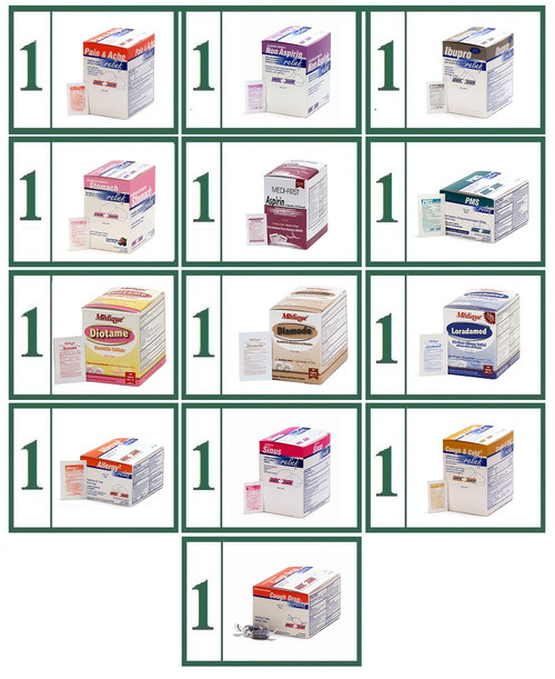 Tablet Medications Generic Refill Combo  - Large