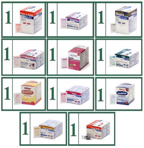 Tablet Medications Generic Refill Combo -  Medium