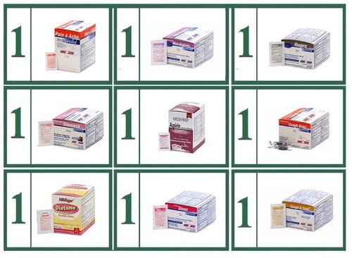 Tablet Medications Generic Refill Combo -  Small