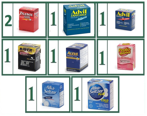 Tablet Medications Brand Name Refill Combo -  Large