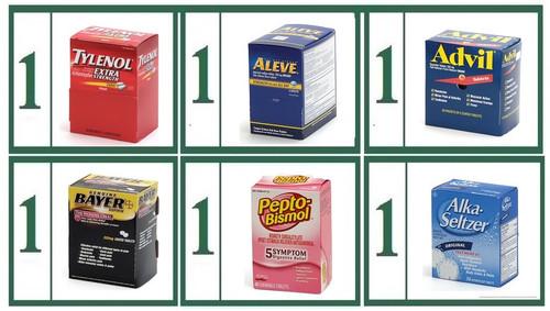 Tablet Medications Brand Name Refill Combo -  Medium