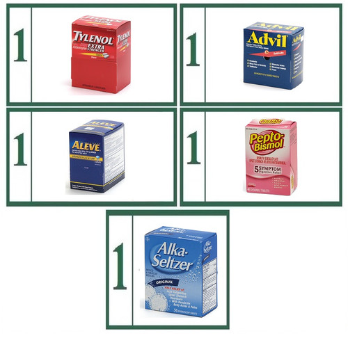 Tablet Medications Brand Name Refill Combo -  Small