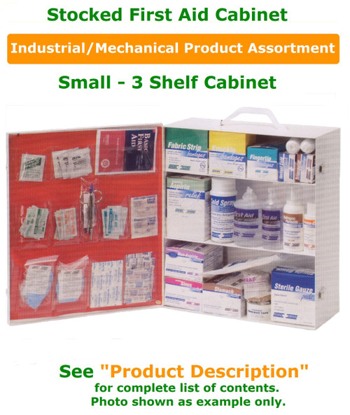 3 Shelf Cabinet - Stocked for Industrial Environment