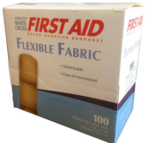 Flexible Fabric Adhesive Bandages 100/Dispenser Boxes