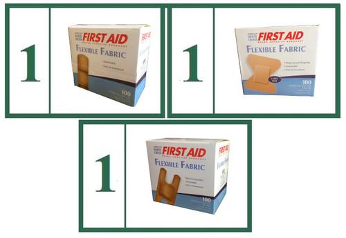 Flexible Fabric Adhesive Bandage Bundle Basic