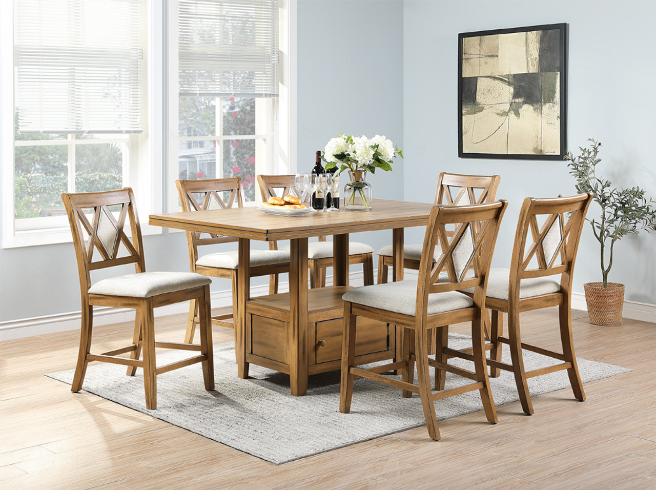 The Blacksburg Counter Height Dining Table in Oak available at ...
