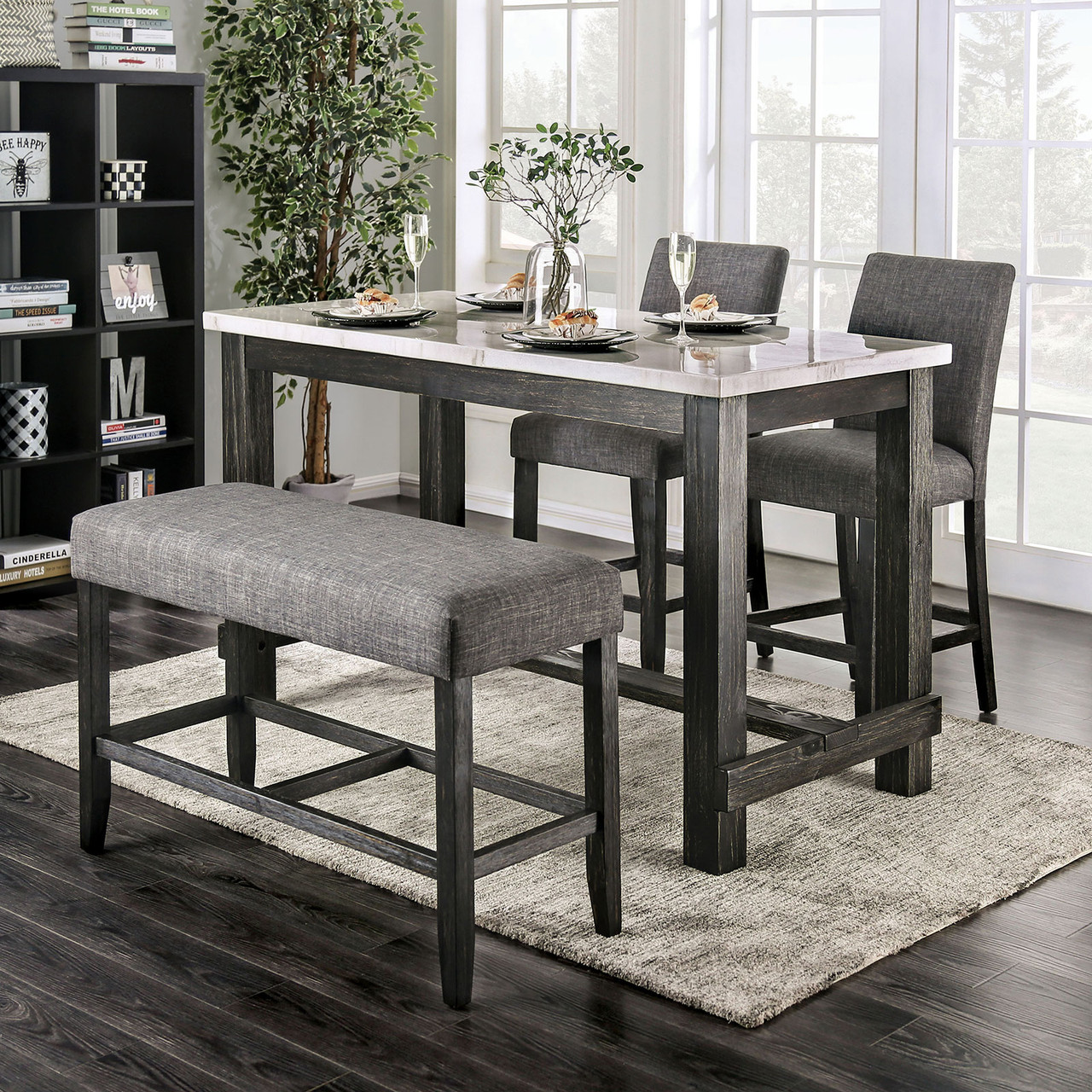 The Brule Rustic 4 Pc Counter Ht Dining Table Set W Bench Available At Furniture Express Hi Serving Honolulu Hi And Surrounding Areas