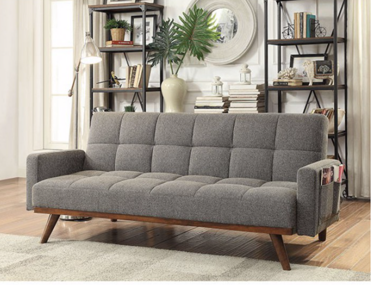 The Nettie Mid Century Modern Futon Sofa Available At Furniture Express Hi Serving Honolulu Hi And Surrounding Areas