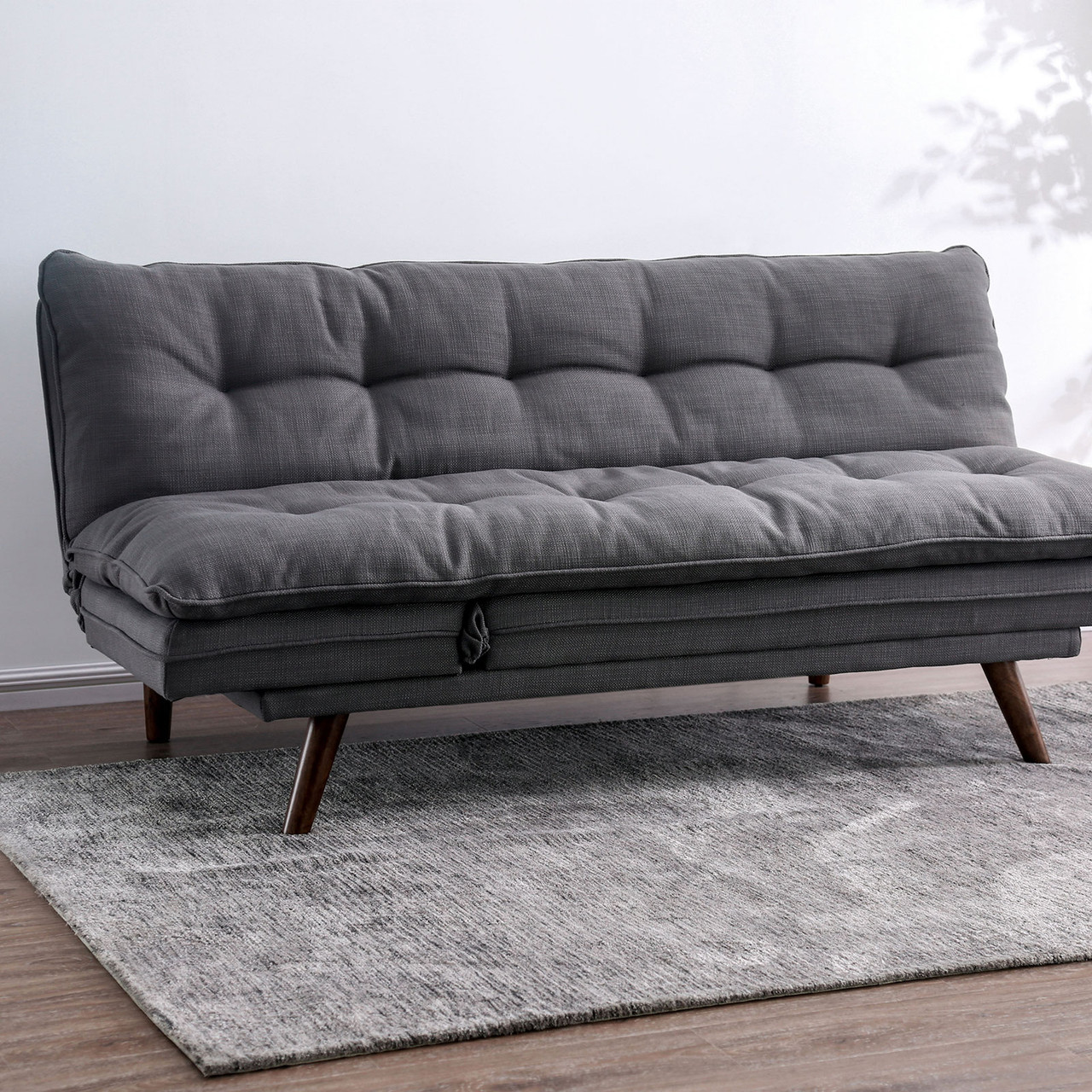 The Braga Mid Century Modern Transitional Futon Sofa Available At Furniture Express Hi Serving Honolulu Hi And Surrounding Areas