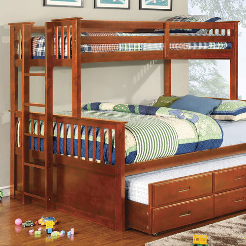 The University Cottage Twin Queen Bunk Bed Trundle In Walnut Available At Furniture Express Hi Serving Honolulu Hi And Surrounding Areas