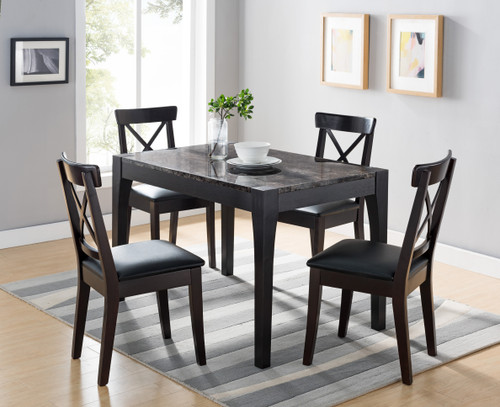 The Dining Table In Red Cocoa Black Faux Marble 161799 Available At Furniture Express Hi Serving Honolulu And Surrounding Areas