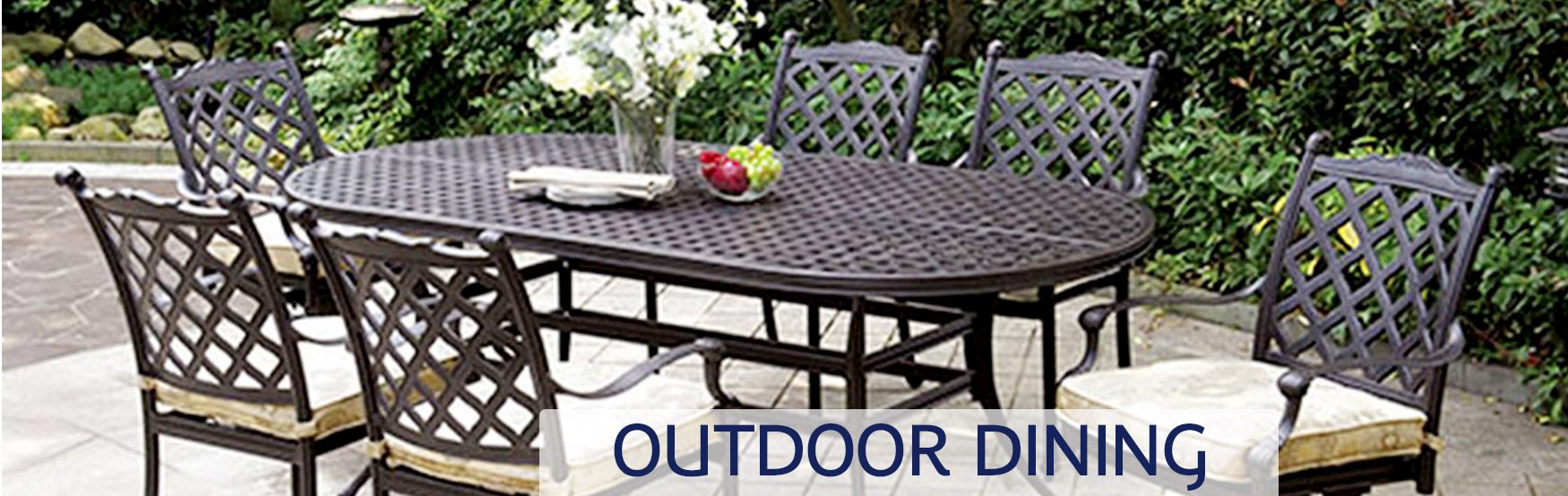 Outdoor Dining Furniture Banner