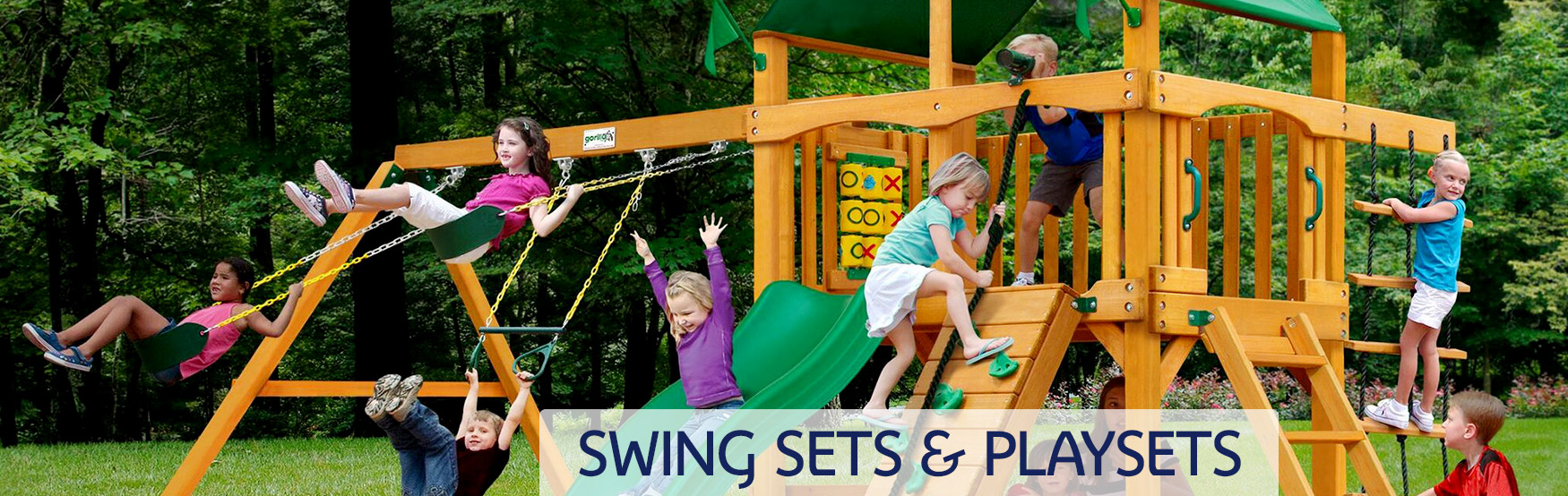 Swing Sets & Playsets Banner