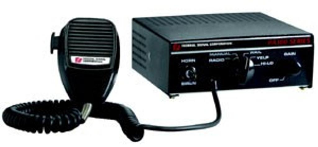 Federal Signal PA300 100 Watt Siren with Hi-Lo Tone and Hard Wired Microphone