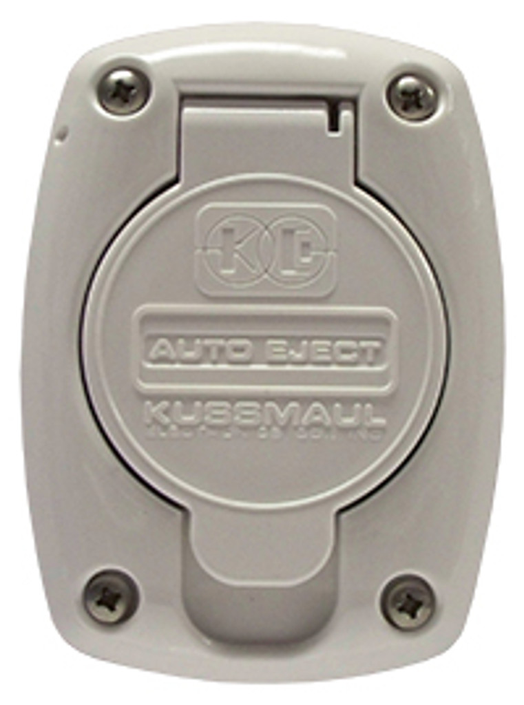 Kussmaul #091-55WH Receptacle Cover For 15 & 20 Amp Super Auto Eject - White