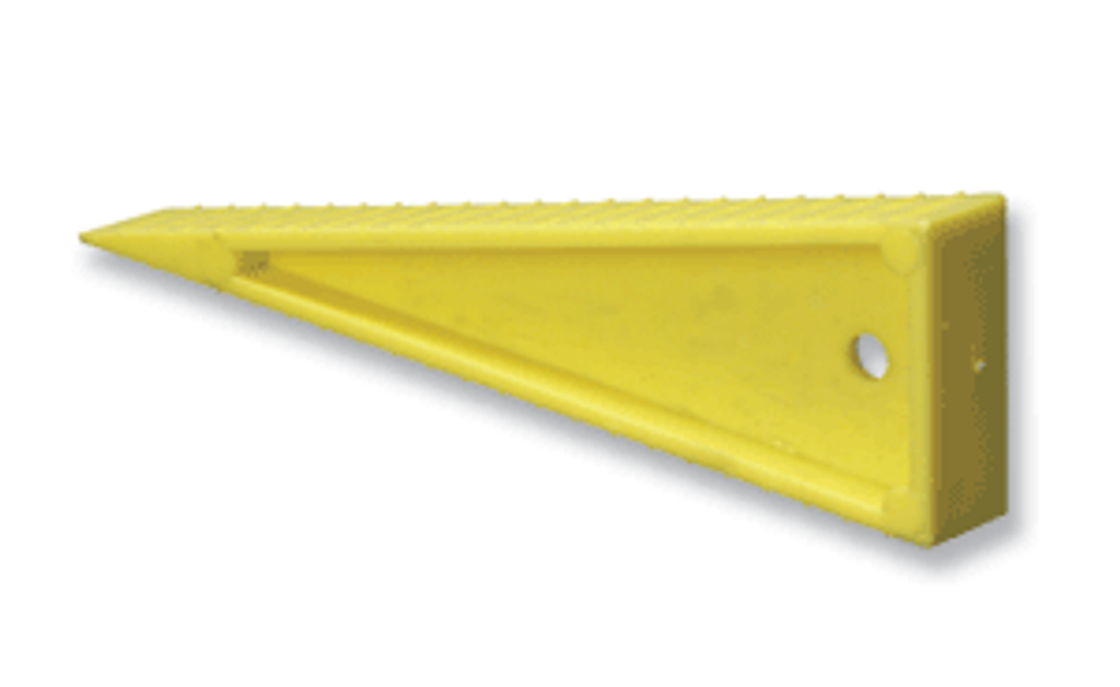 Turtle Plastic #WIT-Y Sprinkler / Door Wedge - Yellow