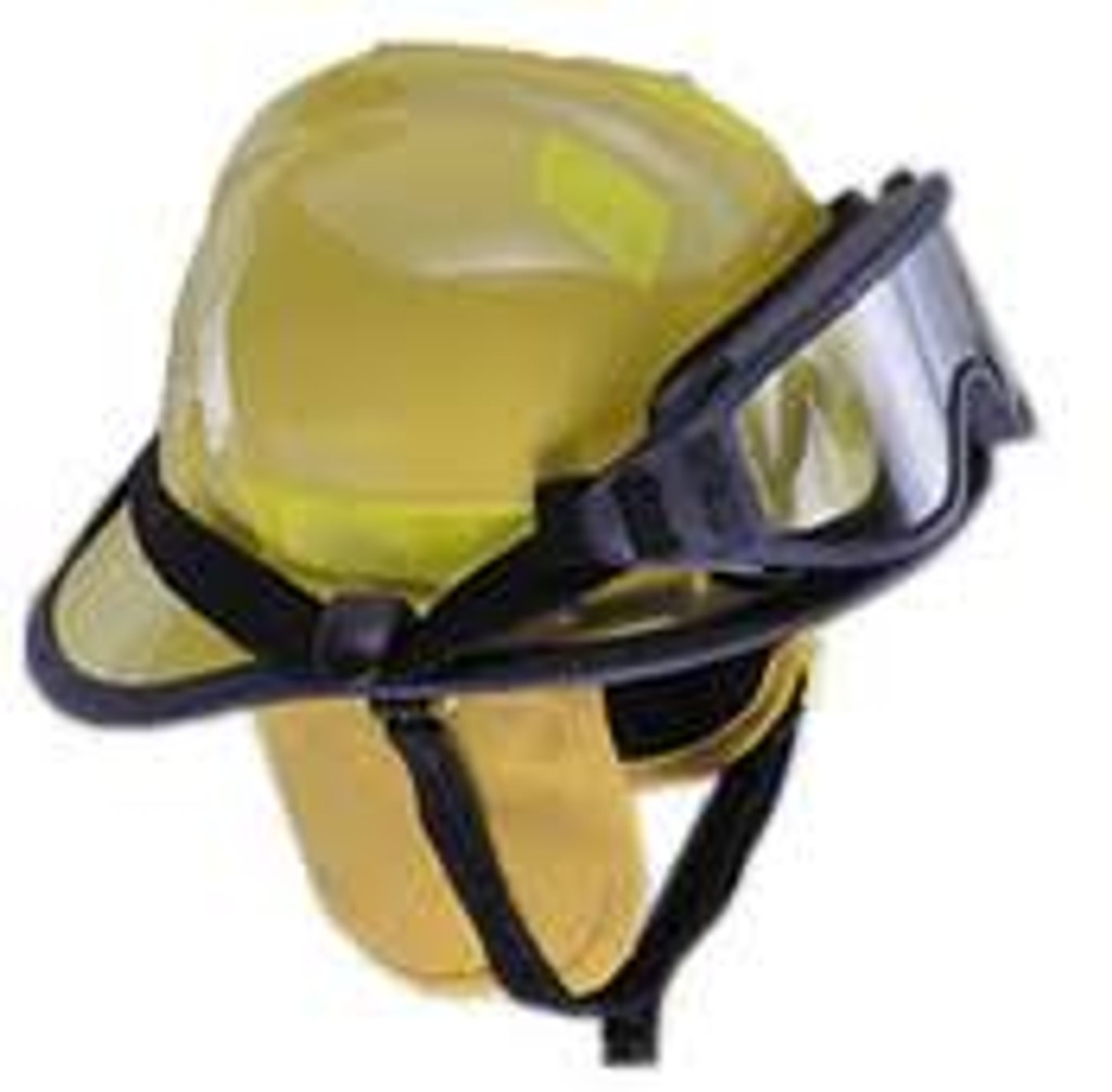 Cairns #360SXS-Y 360 Structural Firefighting Helmet W/ ESS Goggle System - Yellow