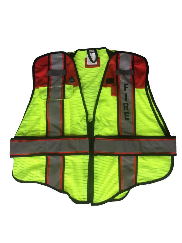 Fire Ninja Ultrabright Red Public Safety Vest - Fire